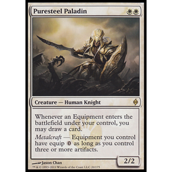 Magic löskort: New Phyrexia: Puresteel Paladin