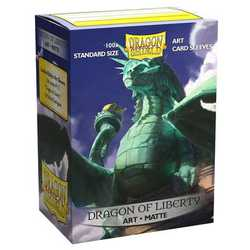 "Card Sleeves Standard Art ""Dragon of Liberty"" 63x88mm (100 in box) (Dragon Shield)"