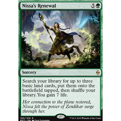 Magic löskort: Battle for Zendikar: Nissa's Renewal