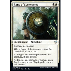 Magic löskort: Kaldheim: Rune of Sustenance