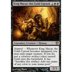 Magic löskort: Journey into Nyx: King Macar, the Gold-Cursed (Foil)