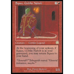 Magic löskort: Mercadian Masques: Squee, Goblin Nabob