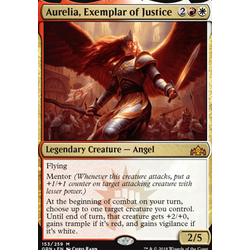 Magic löskort: Guilds of Ravnica: Aurelia, Exemplar of Justice