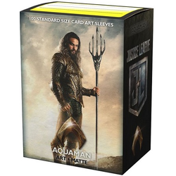 "Card Sleeves Standard Art ""Justice League - Aquaman"" 63x88mm (100 in box) (Dragon Shield)"