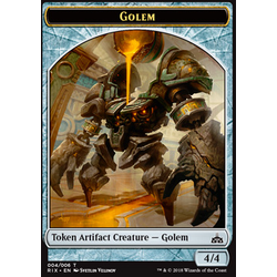 Magic löskort: Rivals of Ixalan: Golem Token