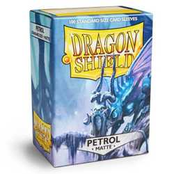 Card Sleeves Standard Matte Petrol (100 in box) (Dragon Shield)
