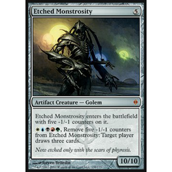 Magic löskort: New Phyrexia: Etched Monstrosity