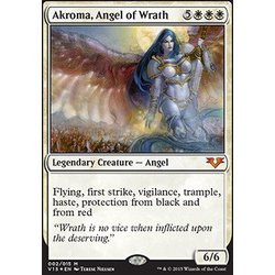 Magic löskort: Angels: Akroma, Angel of Wrath