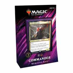 Magic The Gathering: Commander Deck 2019 - Merciless Rage (Italienska)
