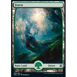Magic löskort: Zendikar Rising: Forest (v.3)