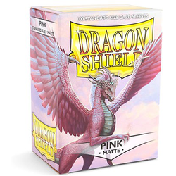 Card Sleeves Standard Matte Pink (100 in box) (Dragon Shield)