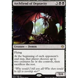 Magic löskort: Archenemy: Nicol Bolas: Archfiend of Depravity