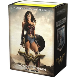 "Card Sleeves Standard Art ""Justice League - Wonder Woman"" 63x88mm (100 in box) (Dragon Shield)"