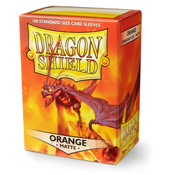 Card Sleeves Standard Matte Orange (100 in box) (Dragon Shield)