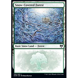 Magic löskort: Kaldheim: Snow-Covered Forest (v.2)
