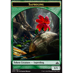 Magic löskort: Rivals of Ixalan: Saproling Token