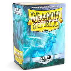 Card Sleeves Standard Matte Clear (100, Box) (Dragon Shield)