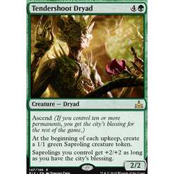 Magic löskort: Rivals of Ixalan: Tendershoot Dryad