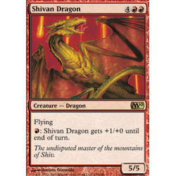 Magic löskort: M10: Shivan Dragon