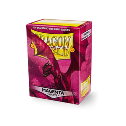 Card Sleeves Standard Matte Magenta (100 in box) (Dragon Shield)