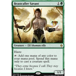Magic löskort: Battle for Zendikar: Beastcaller Savant (foil)