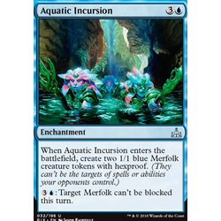 Magic löskort: Rivals of Ixalan: Aquatic Incursion