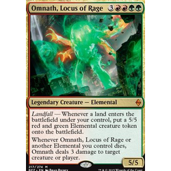 Magic löskort: Battle for Zendikar: Omnath, Locus of Rage