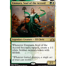 Magic löskort: Guilds of Ravnica: Emmara, Soul of the Accord