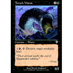 Magic löskort: Invasion: Trench Wurm (Foil)