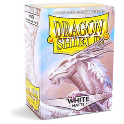 Card Sleeves Standard Matte White (100 in box) (Dragon Shield)