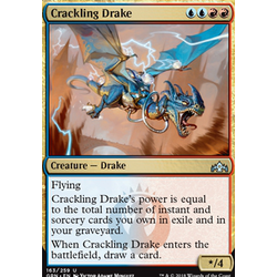 Magic löskort: Guilds of Ravnica: Crackling Drake