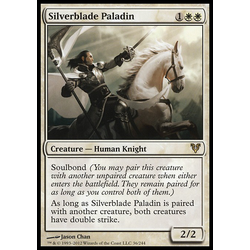 Magic löskort: Avacyn Restored: Silverblade Paladin