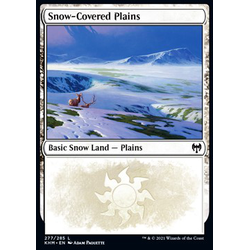 Magic löskort: Kaldheim: Snow-Covered Plains (v.1)