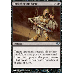 Magic löskort: Planar Chaos: Treacherous Urge (Foil)