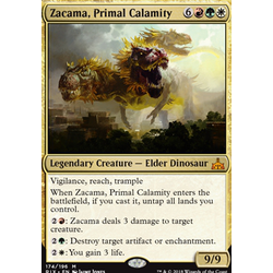 Magic löskort: Rivals of Ixalan: Zacama, Primal Calamity